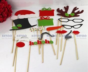 Рождество серии реквизит Hat усы губы очки рога на палочке на день рождения ну вечеринку подарок развлечения для weding или ну вечеринку бесплатная доставка