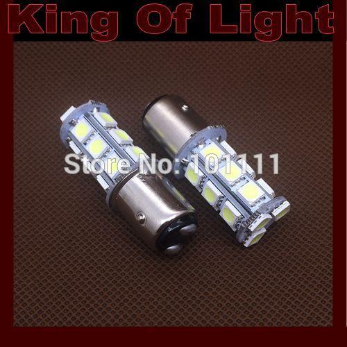 Источник света для авто King 10 x P21/5W s25 bay15d 18smd 1157 18 smd 5050 tricolour 4x 1156 1157 7440 7443 3030 18smd canbus error free smd white led bulbs s25 p21w p21 5w brake light tf83