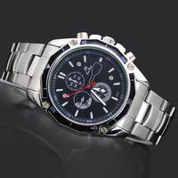 Quartz Sports Man Watches Men's Boy's Fashion Calendar Water Clock Hours Gifts Analog Stainless Steel Wrist Watches, 8322