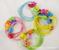 Free Shipping Korea children cute candy colored hair rope elastic hairband baby hair jewelry children hair jewelry