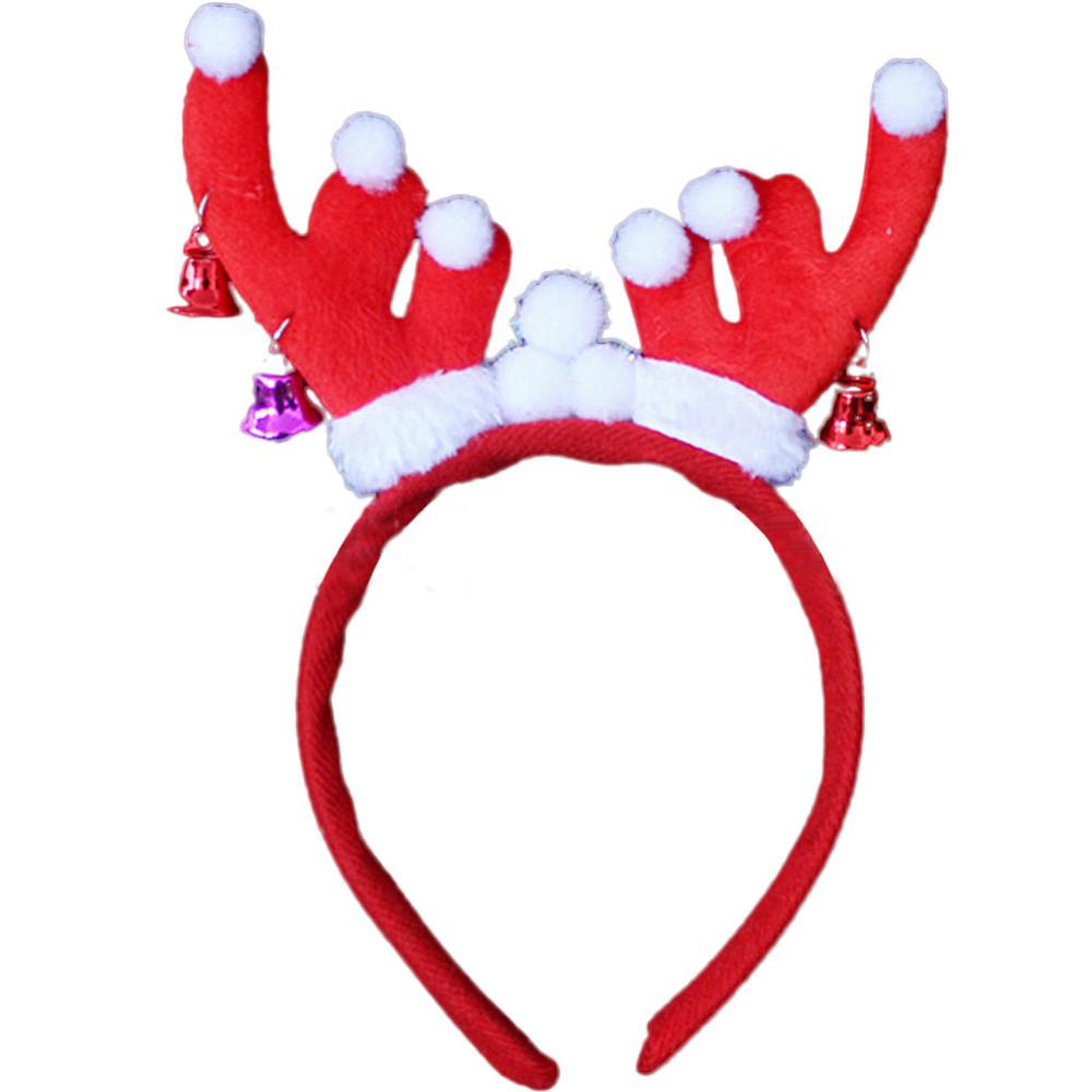... Christmas Halloween Party Headband Red Deer Reindeer Antlers Hairband