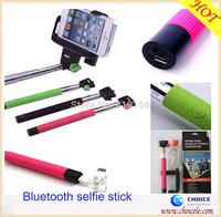 Bluetooth selfie stick extendable monopod,mobile phone selfie holder