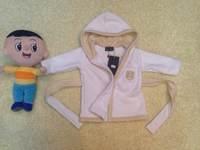 Retail  Brand  2014  New  fashion  spring/autumn  children's  coat  long  sleeve  hooded  belt  unisix's  bathrobes