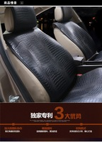 Hot Sale 2014 NEW FASHION SUMMER winter SEX CROCO leather car seat cover universal cushion full set wholesale for All car