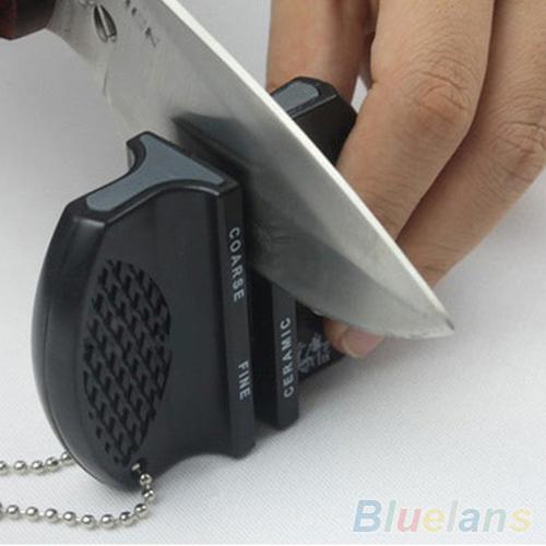 Mini Ceramic Rod Tungsten Steel Camp Pocket Kitchen Knife Sharpener Tool 1OR4(China (Mainland))