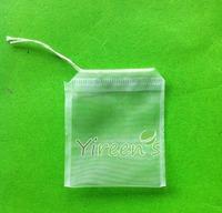 100pcs 50 X 60mm Nylon filter bag, Single string tea filters, Empty tea bag, for filter herb tea, for Chinese medicine