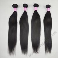 Grade 6A Unprocessed Malaysian Virgin Hair Straight 4pcs 8-30 inch Malaysian Virgin Hair Straight Freeshipping