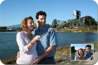 Z07-1Extendable Self Selfie Stick Handheld Monopod +Clip Holder+Bluetooth Camera Shutter Remote Controller for Cell PhoneJX