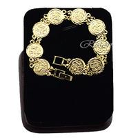 1pcs 13mm Men Women 18K Yellow Gold Filled Dragon Bracelets Bangle Accessories E239