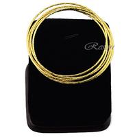 5pcs Lot Womens Ladies 18k Yellow Gold Filled Bangles Wristband E241