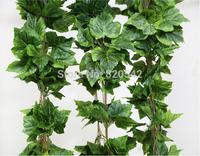 Free Shipping Simulation Grape Vine Leaf Vine Fruit Shop Decorative Ceiling Decoration Artificial Flowers