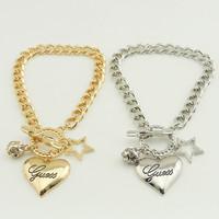 Fashion High Quality Crystals Bracelet Women Ladies Gift Bowknot Star Heart Charm Bracelet & Bangle