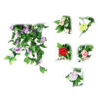 Artificial Rose Flower Foliage Garland fake Plant Faux Vine Rattan Decoration   95618-95623
