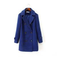L375B Autumn and Winter Coat Women Wool Double-Breasted Outerwear Wool Coat Women Medium-Long Coat Wool Coat