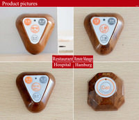 Wireless Calling launch button Wireless waiter call system for triangle restaurant,hospital,set,hamburg wireless pagers