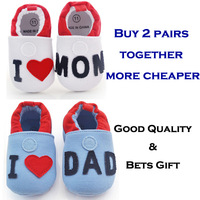 I love Mom/Dad baby shoes, First Walkers, Newborn shoes,Baby cotton shoes, indoor Non slip shoes, Infant toddler shoes,best gift