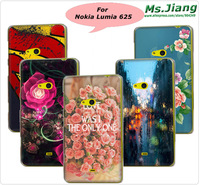 Very ImpressiveTransparent Side Printed Plastic hard back cover Glossy Case Cover for Nokia Lumia 625 Phone Cases
