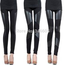s, m, l, xl, 2xl 3 patrones zanzea marca 2014 invierno nueva slim fit sexy tramo mujeres niñas algodón banda piel sintética pantalones legging(China (Mainland))