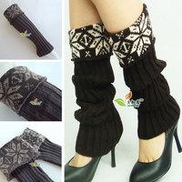 Winter thick Snow piles cuffs Bohemian Leggings boots multicolor Woman leg warmer long stockings