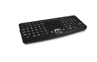 Rii Touch N7 2.4G Hz Mini Wireless Full Qwerty Keyboard For PC, HTPC, a pple, Xbox360, Wii, PS3 With Removable Battery - [Black]
