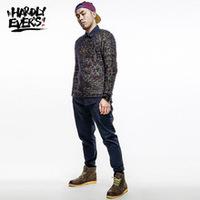 hardlyevers original design Tide brand Harajuku colored mohair sweater hedging long-sleeved men's