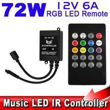 Musik ir-controller 12v 6a 24 Tasten ir fernbedienung für 3528 5050 rgb-led-lichtleisten mini-controller(China (Mainland))