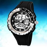 Dropship Sports Men Watches 5ATM Waterproof Sports Watches Quartz Men Clock LED Digital Military Watches Men Wristwatches