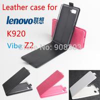 1pcs/lot Original Lenovo VIBE Z2 Pro k920 Leather Case Flip Cover for Lenovo K920 Vibe Z2 Case Phone Cover 3 Color In Stock