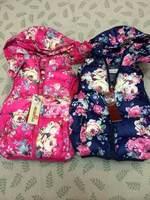 Free  Shipping  2014  New  Retail  Brand  fashion  spring/autumn  children's  jacket  zipper   flower  pattern hooded boy's coat