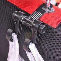 1pcs New Vehicle Interior hanger double multi purpose car hook auto supplies accessories clothes bag Organizer Holder