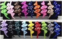 18 colors ,50pcs/colors, Korean Hair Bows Headband for Baby and Ribbon Bows Hair Band  Children Hair Accessory
