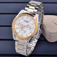 New 2014 men  Watch Stainless steel Wristwatches Fashion Watch Men Mechanical Hand Wind Watch