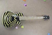 New Classic Paul  maple fingerboard zakk wylde yellow/black Electric Guitar