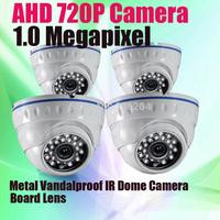 Dome Camera Security 1/4'' CMOS IR CUT 720P AHD 1.0 Megapixel Vandal proof Dome Analog CCTV Camera