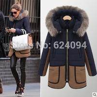 S-XXL Plus Size New Arrivel Winter Women Coat Cotton-Down Fur Coat Parka Sobretudo Casacos Femininos Female Overcoat YS8336