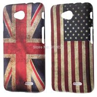 2 X Retro USA/UK Flag Design Hard Skin Cover Case For LG L70 D320 Dual D325