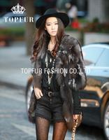 EMS/DHL Free Shipping New Fashion Women Real Natural Fox Fur Long Coat Jacket for Winter Warm Coat FP335