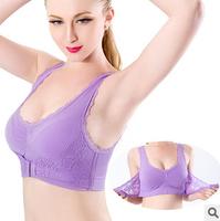 2014 front buckle shockproof body sculpting Seamless Sports Bra sports bra yoga bra gather adjustable underwear