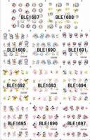 Panda,hello Kitty,Mickey Mouse patterns design Nail decals stickers,Water to stick nail sticker style 200pcs nail art decoration