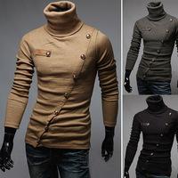 2014 new winter influx of foreign trade goods Xie Jin Xiu multi- button Korean men POLO shirt collar height genuine