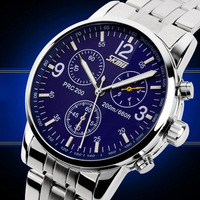 Brand New With Tags Stainless Steel Analog Quartz Watches For Men Skmei Fashion Casual Dress Wristwatch Male Fashion Hours 9070