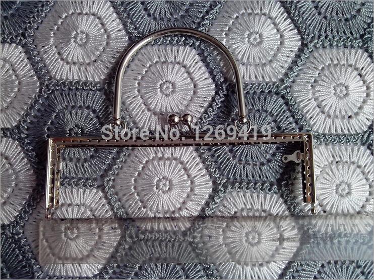 20CM 10PCS Handbag Purse Frames,Annulus Handle Silver Purse Metal Frame Kiss Clasp DIY Patchwork Bag Coin Clutch Accessories(China (Mainland))