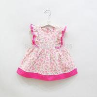 New 2014 Children Clothing Flower Girls' Dresses Sleeveless Baby Girls Fall Dress Kids Fall Wear Child Autumn Clothes