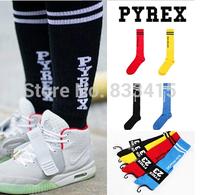 1 Pair Retail Pyrex vision sport stockings pyrex 23 Japanese Harajuku ayumi GD striped socks skateboard 5 color  2pcs=1pair=1lot