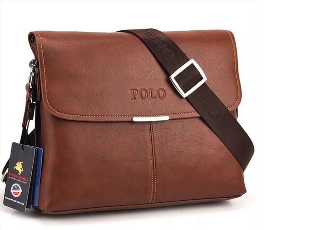 2014 NEW ARRIVEL!high quality composite leather briefcase POLO handbags business single shoulder bag bags,fashion men bag MB153(China (Mainland))
