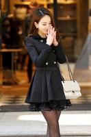 New Korean Style Slim Ladies Long Women's Coats 2014 Woman Jacket Spring and Autumn 2014