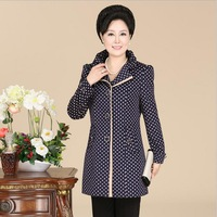 Free Shipping New Autumn Winter Middle-Aged Large Size Jacket Windbreaker 2014 Fall Fashion for Women 5082
