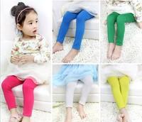 Children candy color milk silk leggings girl legging children pants thin section