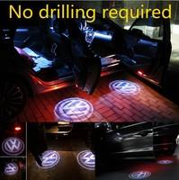 LED Auto Car Door Welcome Lamp Ghost Shadow Projector Logo Warning Light For VW Golf Jetta MK5 MK6 CC Tiguan Passat Scirocco