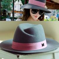 Pepper potts cloth top hat, fall, winter hat female British M standard M home